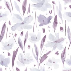 Watercolor flower pattern.