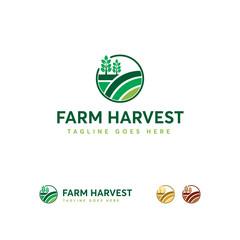 Classic Farm Harvest Badge logo template vector, Agriculture logo badge