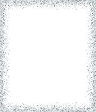 Silver glitter background for holiday designs.