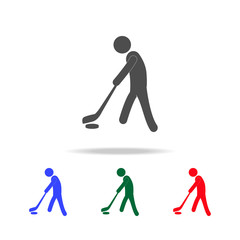 Ice hockey player  icons. Elements of sport element in multi colored icons. Premium quality graphic design icon. Simple icon for websites, web design, mobile app, info graphics