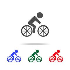 Cyclist  icons. Elements of sport element in multi colored icons. Premium quality graphic design icon. Simple icon for websites, web design, mobile app, info graphics