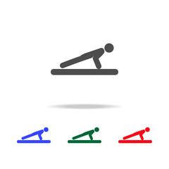 Push ups  icons. Elements of sport element in multi colored icons. Premium quality graphic design icon. Simple icon for websites, web design, mobile app, info graphics