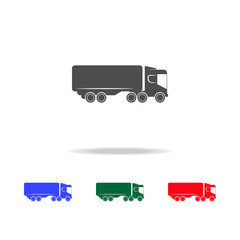 lorry with a trailer  icons. Elements of transport element in multi colored icons. Premium quality graphic design icon. Simple icon for websites, web design