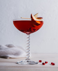 Apple and pomegranate cocktail