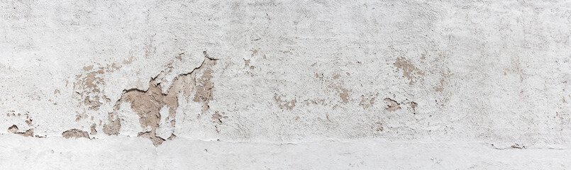 Canvas Prints Wall Ancient wall with peeling plaster. Old concrete wall, panoramic textured background