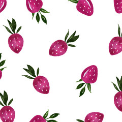 watercolor strawberry art background