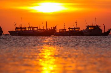sunset on the fishing roads