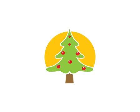 cristmas tree illustration vecto