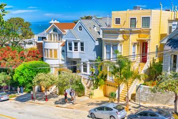 City views a seaport in western California - San Francisco .
