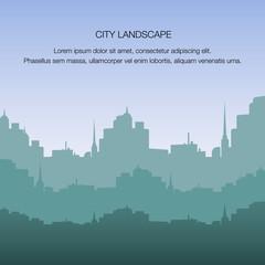 View City Landscape Silhouette Building Metropolis