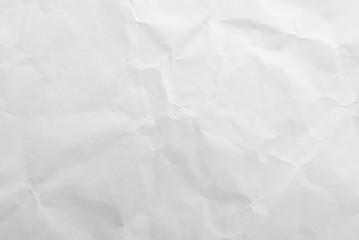 Papiers peints Marbre White crumpled paper texture background. Close-up.