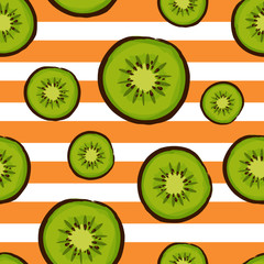 colorful kiwi fruit seamless pattern design