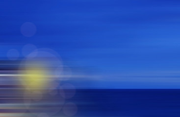 abstractly morning on the ocean