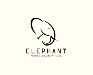 head elephant drawing art logo design inspiration