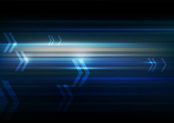 Abstract motion with arrows dark blue Background