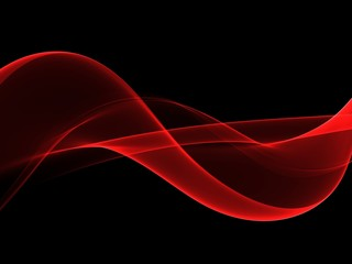 Abstract shiny color red wave design element
