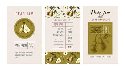 Pear jam flyers
