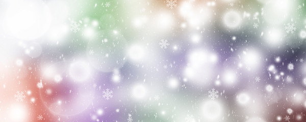 Beautiful Soft Christmas lights With Snowflakes