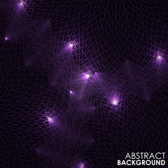Abstract purple lights wave pattern technology background.