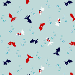 Japanese Cute Goldfish Pattern