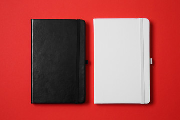 Set of notebooks for branding on color background
