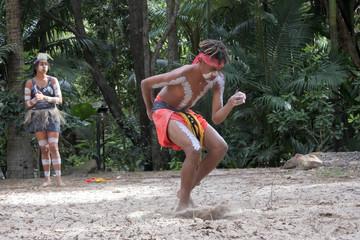 Young Adult Indigenous Australian.Man Dancing