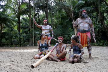 Indigenous Australians.People Dancing