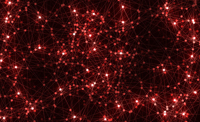 Red Molecule structure, Molecule background, vector illustration