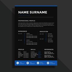 Profesional clean resume cv template design