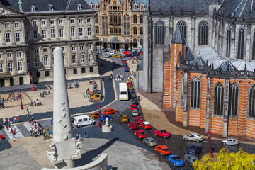 The Hague, Netherlands - April 26, 2017: Madurodam miniature park in The Hague