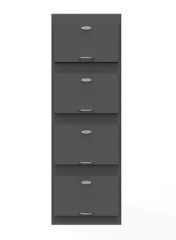 file cabinet on white background. 3d illustration
