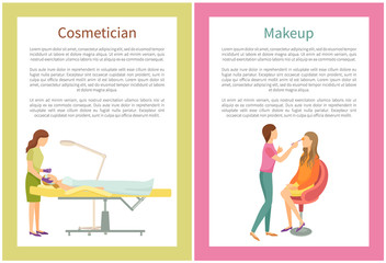 Makeup and Cosmetician Services in Spa Salon Posters