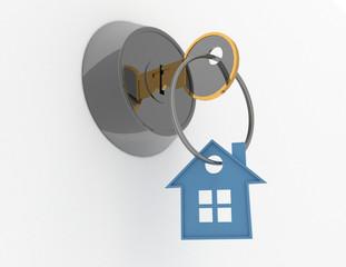3d house key concept