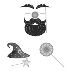 Isolated object of party and birthday sign. Collection of party and celebration vector icon for stock.