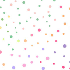 Dot and spots scatter celebration confetti pattern abstract background vector illustration