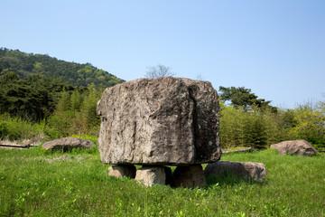 Dolmen in Gochang County, Korea.