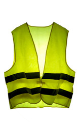 yellow vest french icon protest isolated on white background with clipping pathand copy space for your text