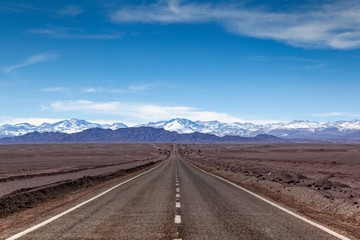 Road in the desert of Atacama, Chile - South America