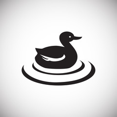 Duck hunt icon on white background for graphic and web design, Modern simple vector sign. Internet concept. Trendy symbol for website design web button or mobile app