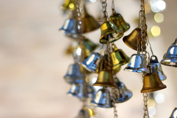 Bell silver and Bell gold Background Blur and Bokeh