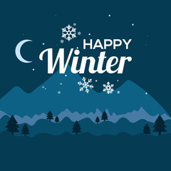 happy winter day, winter day design template