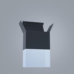 Empty Black box on gray background