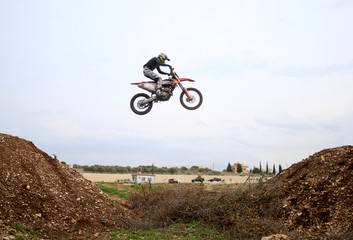 Rider practices motocross at MX Academy Lebanon in Aabrine