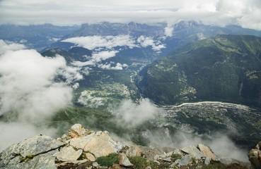 Montnlanc  mountain in the Chamonix Alps