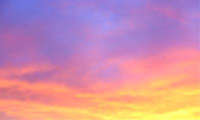 Fototapeta Sunset vector background. Sunrise wallpaper. Abstract beautiful heaven with clouds. Sunlight gradient blurred sky. Sundown backdrop.  obraz