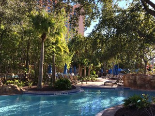 swimming pool in luxury hotel