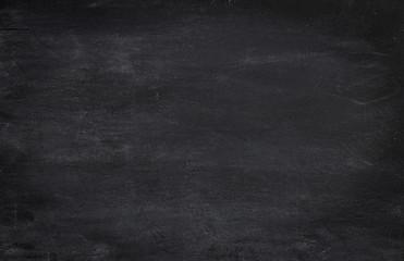 Black horizontal blank dusty or dirty chalkboard