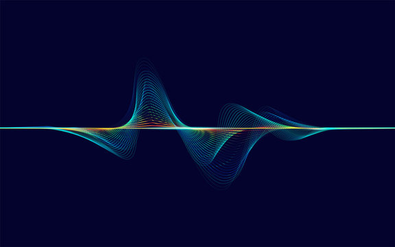 abstract digital colourful equalizer, sound wave pattern element