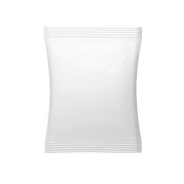 White blank packaging mockup isolated on white background, 3d rendering,
