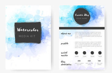 Vector template in watercolor style.